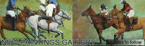 horse and polo painting